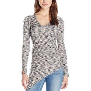 525 America Spacedye V-Neck Asymmetric Sweater